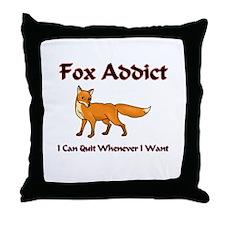 Fox Addict Throw Pillow