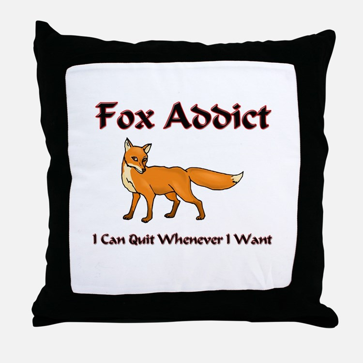 Fox Addict Throw Pillow