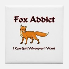 Fox Addict Tile Coaster