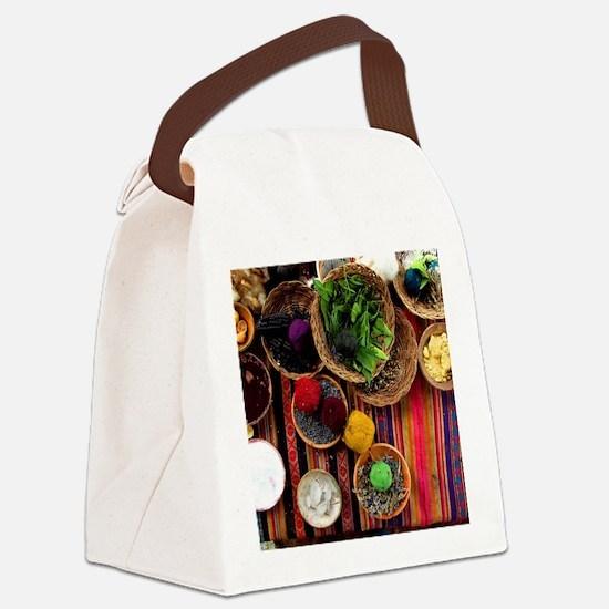 Funny Cusco Canvas Lunch Bag