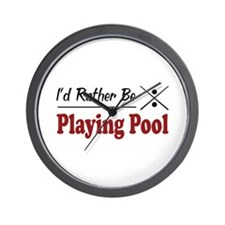 Rather Be Playing Pool Wall Clock