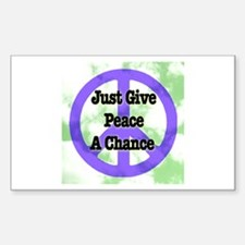 Peace Symbol Rectangle Decal