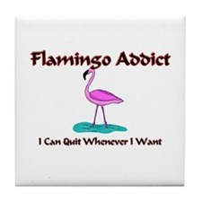 Flamingo Addict Tile Coaster