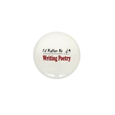Rather Be Writing Poetry Mini Button (100 pack)