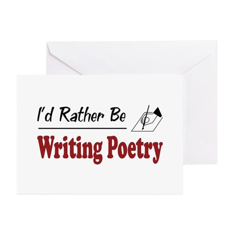 Rather Be Writing Poetry Greeting Cards (Pk of 20)