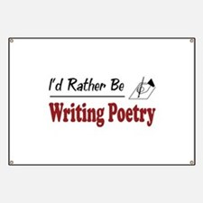 Rather Be Writing Poetry Banner