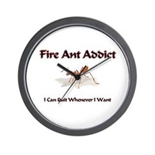 Fire Ant Addict Wall Clock