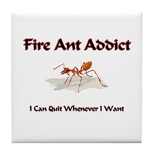 Fire Ant Addict Tile Coaster