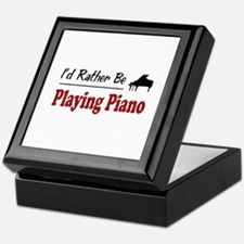 Rather Be Playing Piano Keepsake Box