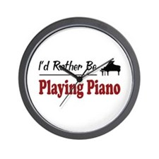 Rather Be Playing Piano Wall Clock