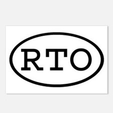 RTO Oval Postcards (Package of 8)