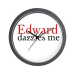 Edward Dazzles Me Wall Clock
