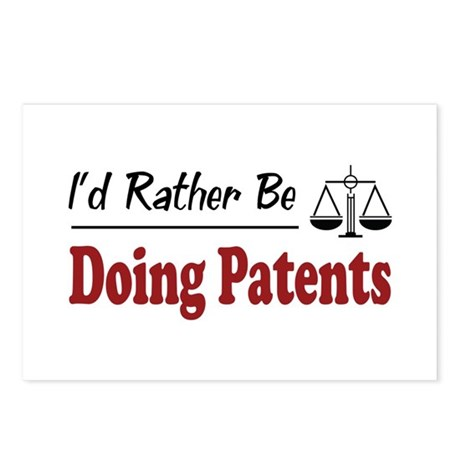 Rather Be Doing Patents Postcards (Package of 8)