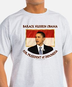 Obama for President of Indonesia T-Shirt