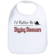 Rather Be Digging Dinosaurs Bib