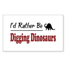 Rather Be Digging Dinosaurs Rectangle Decal