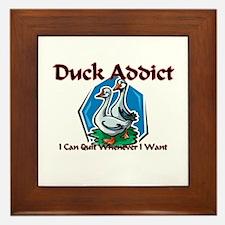 Duck Addict Framed Tile