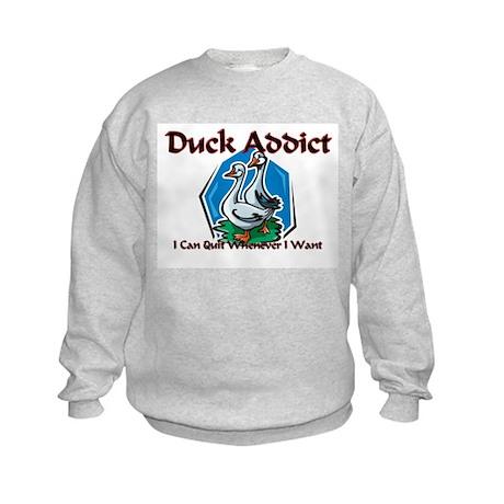 Duck Addict Kids Sweatshirt