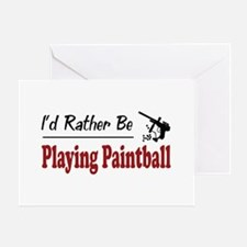 Rather Be Playing Paintball Greeting Card