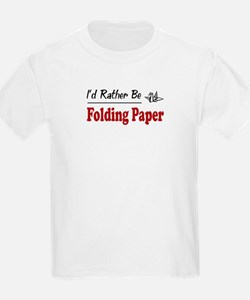 Rather Be Folding Paper T-Shirt