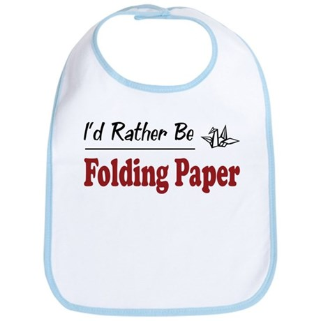 Rather Be Folding Paper Bib