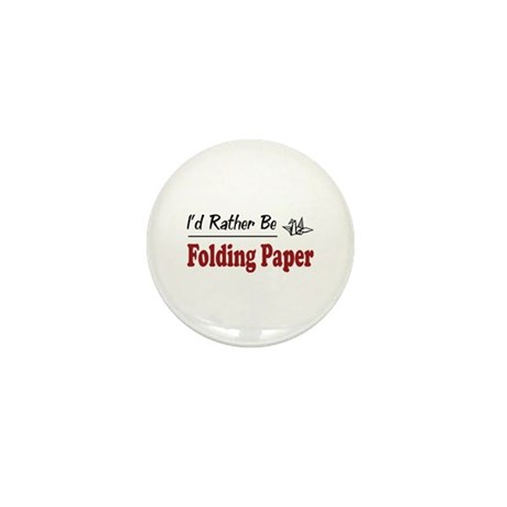 Rather Be Folding Paper Mini Button (100 pack)