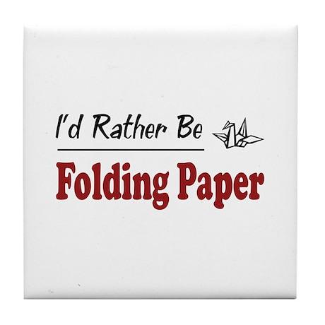Rather Be Folding Paper Tile Coaster