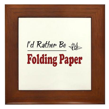 Rather Be Folding Paper Framed Tile