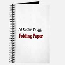 Rather Be Folding Paper Journal
