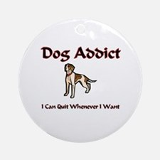 Dog Addict Ornament (Round)
