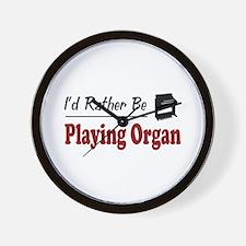 Rather Be Playing Organ Wall Clock