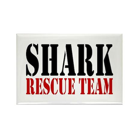 Shark Rescue Team Rectangle Magnet (10 pack)