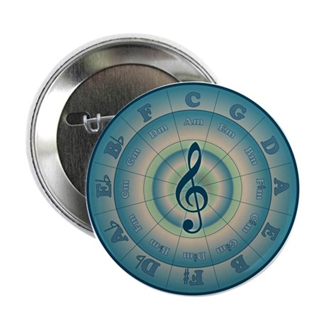 """Colorful Circle of Fifths 2.25"""" Button"""