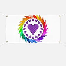 Rainbow Love Hearts Banner