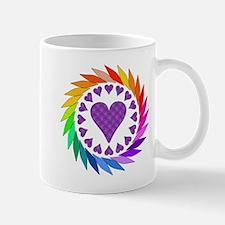 Rainbow Love Hearts Mug