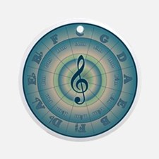 Colorful Circle of Fifths Ornament (Round)