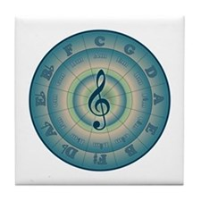 Colorful Circle of Fifths Tile Coaster