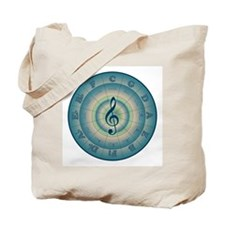 Colorful Circle of Fifths Tote Bag