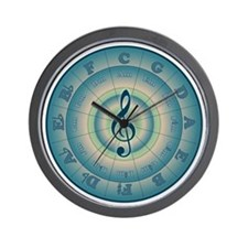 Colorful Circle of Fifths Wall Clock
