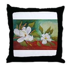Magnificent Magnolias Throw Pillow