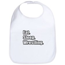 """Eat. Sleep. Wrestling."" Bib"