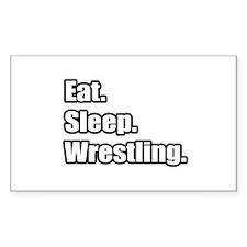 """Eat. Sleep. Wrestling."" Rectangle Decal"