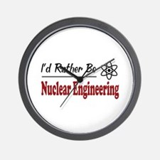 Rather Be Nuclear Engineering Wall Clock