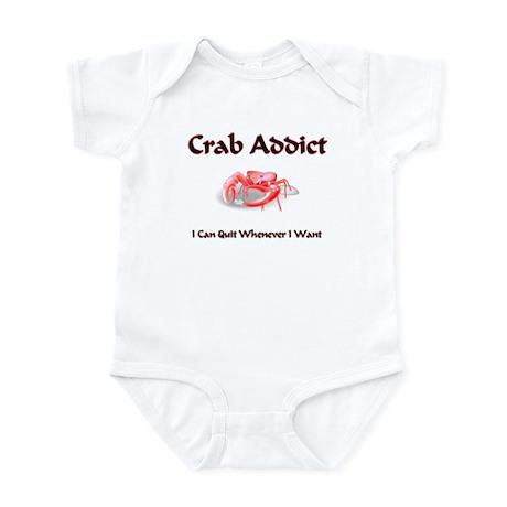 Crab Addict Infant Bodysuit