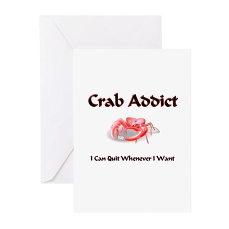 Crab Addict Greeting Cards (Pk of 10)