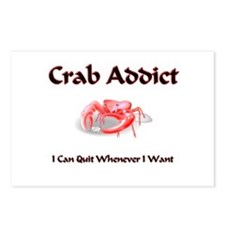 Crab Addict Postcards (Package of 8)