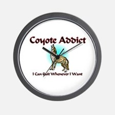Coyote Addict Wall Clock
