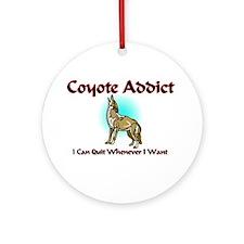 Coyote Addict Ornament (Round)