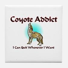 Coyote Addict Tile Coaster
