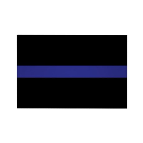 Thin Blue Line Rectangle Magnet (10 pack)
